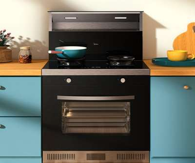 美的烟灶蒸烤箱集成环保灶WX08