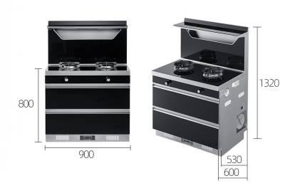 欧尼尔LX11-D集成灶 烟灶消一体自动清洗烟灶联动+头部加热