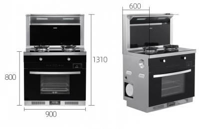 欧尼尔LX6集成灶 蒸烤消三合一体机双电机